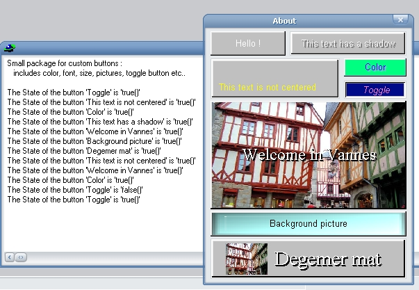A screenshot of the included example
